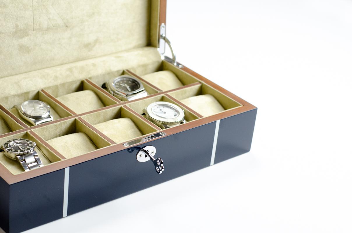 coffret de rangement 10 montres par oh selection. Black Bedroom Furniture Sets. Home Design Ideas